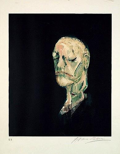 Francis BACON (1909-1992) PORTRAIT DE WILLIAM BLAKE, 1986 Lithographie en couleurs, épreuve d'artiste signée (edition numérotée à 60..