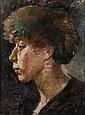 Marie LAURENCIN (Paris, 1885 - Paris, 1956) AUTOPORTRAIT, CIRCA 1904 Huile sur panneau