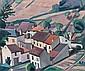 Louis NEILLOT (Vichy, 1898 - Paris, 1973) LE VILLAGE DES GRIVATS DANS LE BOURBONNAIS, 1926 Huile sur toile