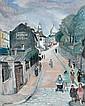 Léon PAUL (Bransat, 1889 - 1953) RUE DE L'ABREUVOIR, MONTMARTRE, 1924 Huile sur toile