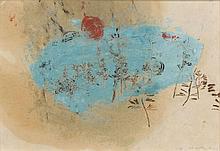 ZAO WOU- KI (1920-2013) SANS TITRE - 1951 Monotype et huile sur papier