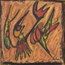 Jean-Michel ATLAN (1913-1960) COMPOSITION Pastel sur carton