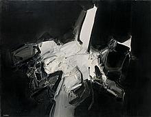 André MARFAING (1925-1987) COMPOSITION - 1960 Huile sur toile