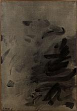 Nasser ASSAR (Né en 1928) COMPOSITION - 1961 Huile sur toile