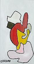 Gaston CHAISSAC (1910-1964) SANS TITRE Huile sur panneau