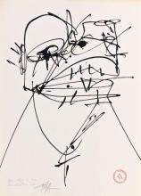 Antonio SAURA (1930-1998) SANS TITRE Encre sur papier