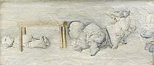 DADO (1933 - 2010) TABLE DE DISSECTION - 1956 Huile sur toile