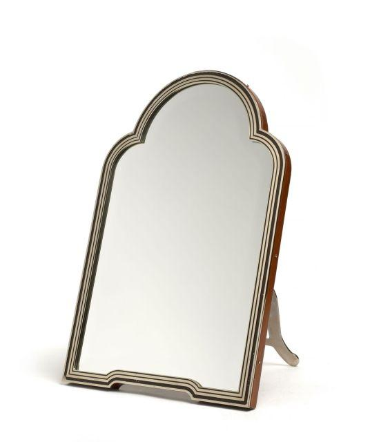 hermes miroir en m tal argent et bois dim 42 x 28 5 cm