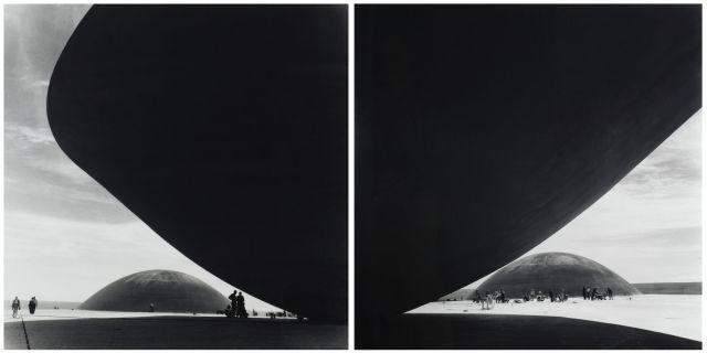 Marcel André Félix GAUTHEROT 1910-1996 PALACIO DO CONGRESSO NACIONAL I & II, BRASILIA (ARCHITECTE OSCAR NIEMEYER), VERS 1960 Deux ti...