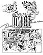 CORNILLON Luc (né en 1957) & CHALAND Yves (1957-1990)  GEGENE IDOLE DES JEUNES Encre de Chine pour la planche 1 de cette histoire pu..., Yves Chaland, Click for value