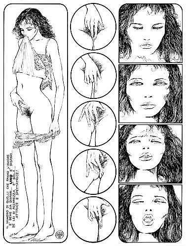 CREPAX Guido (1933-2003)  EMMANUELLE Encre de Chine pour une planche de cet album publié en 1979 aux éditions Le Square. Signée et d...
