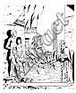 MARTIN Jacques (1921-2010)  ALIX Encre de Chine pour la couverture du Journal Tintin n°24 daté du 15 juin 1950. Réalisée à l'occasio..., Jacques (1921) Martin, Click for value