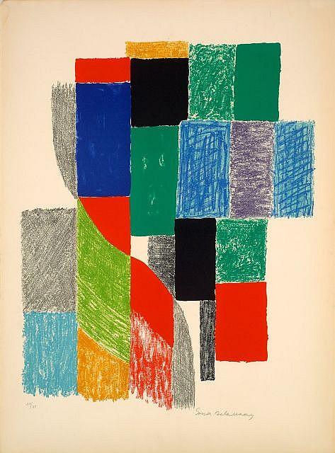 Sonia DELAUNAY (Gradijsk, 1885 - Paris, 1979) ORIFLAMMES, circa 1970