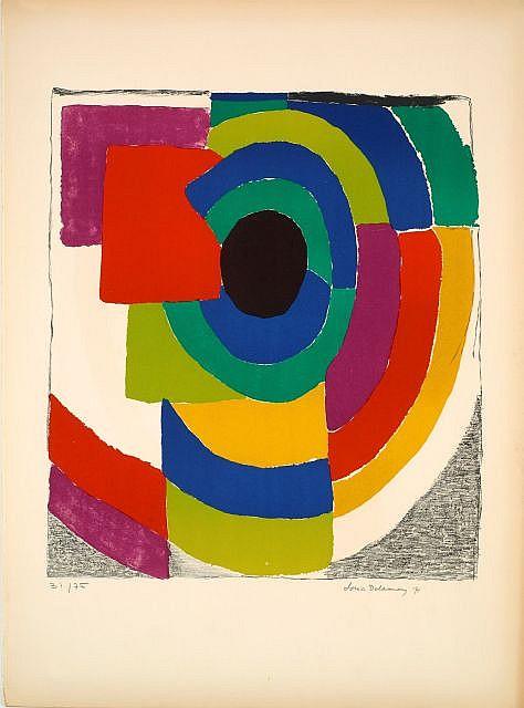 Sonia DELAUNAY (Gradijsk, 1885 - Paris, 1979) ORPHIQUE, circa 1970