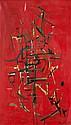 Jean DEGOTTEX (1918-1988) ROUGE, 1951 Huile sur toile