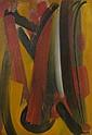 Youla CHAPOVAL (1919-1951) LAMES ROUGES, 1950 Huile sur toile