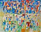 Jacques GERMAIN (1915-2001) COMPOSITION ABSTRAITE, 1957 Huile sur toile