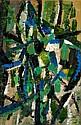 Oscar GAUTHIER (né en 1921) COMPOSITION, 1951 Huile sur papier marouflé sur carton d'isorel