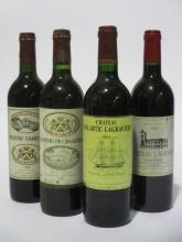 11 bouteilles 2 bts : CHÂTEAU CAMENSAC 1983 5è GC Haut Médoc (étiquettes fanées et tachées)