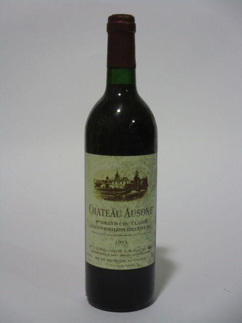1 bouteille CHÂTEAU AUSONE 1993 1er GCC (A) Saint Emilion (étiquette tachée) (cave 6)