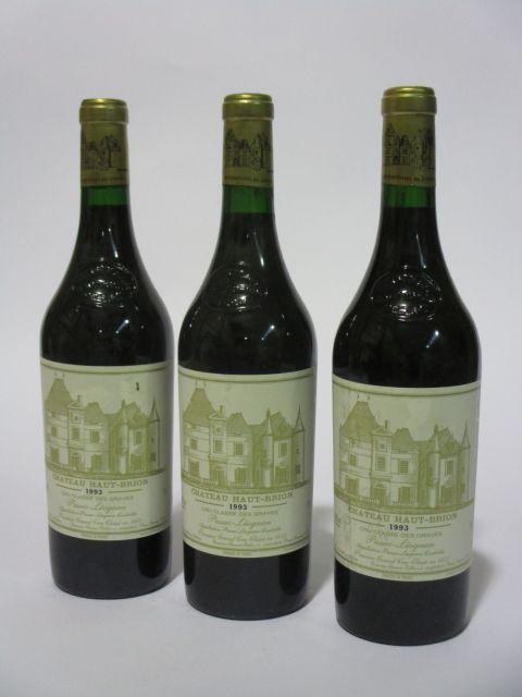 6 bouteilles CHÂTEAU HAUT BRION 1993 1er GC Pessac Léognan (étiquettes fanées) (cave 6)
