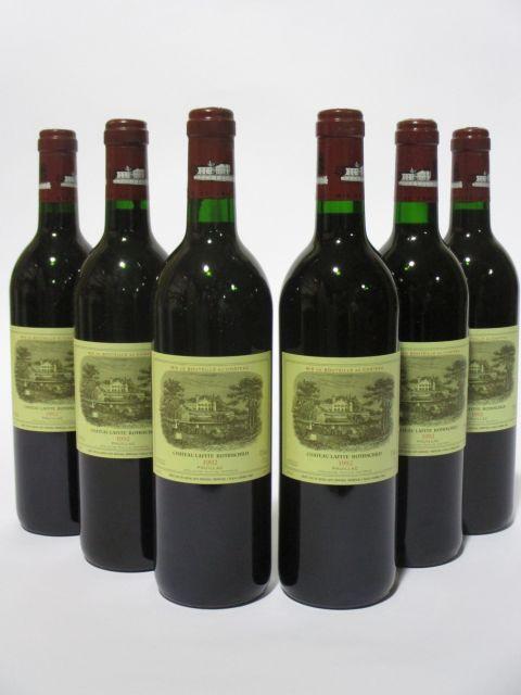6 bouteilles CHÂTEAU LAFITE ROTHSCHILD 1992 1er GC Pauillac (cave 6)