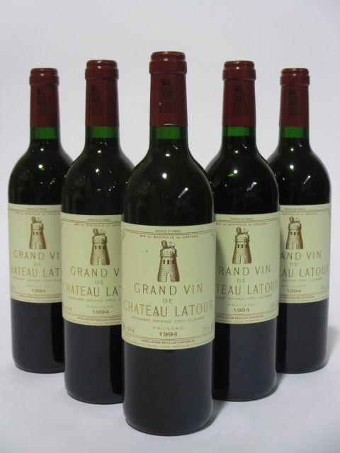 5 bouteilles CHÂTEAU LATOUR 1994 1er GC Pauillac  (cave 6)