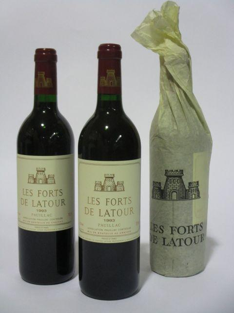 6 bouteilles LES FORTS DE LATOUR 1993 Pauillac  (cave 6)