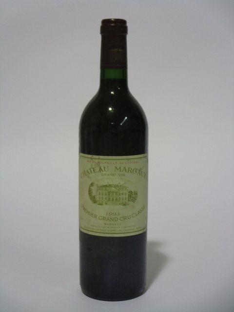1 bouteille CHÂTEAU MARGAUX 1993 1er GC Margaux (étiquette fanée et tachée) (cave 6)