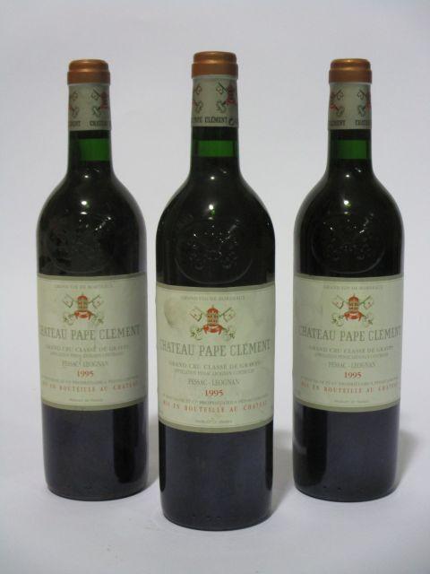7 bouteilles CHÂTEAU PAPE CLEMENT 1995 CC Pessac Léognan (étiquettes léger tachées et sales) (cave 6)