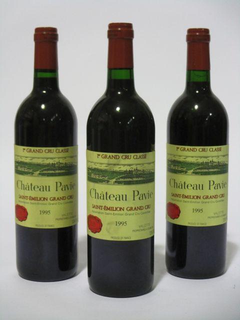 10 bouteilles CHÂTEAU PAVIE 1995 1er GCC (B) Saint Emilion (étiquettes fanées) (cave 6)