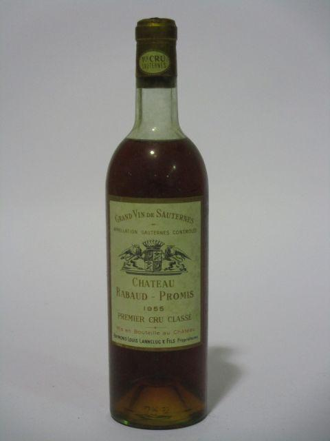 1 bouteille CHÂTEAU RABAUD PROMIS 1955 1er cru Sauternes (niveau haute épaule