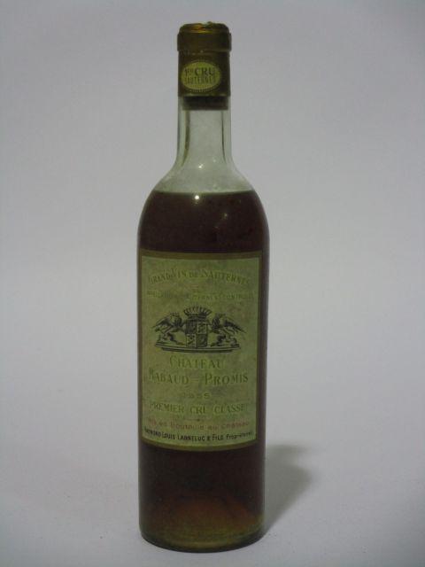 1 bouteille CHÂTEAU RABAUD PROMIS 1955 1er cru Sauternes (niveau mi-épaule