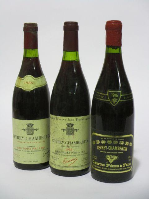 11 bouteilles 6 bts : GEVREY CHAMBERTIN 1996 Domaine Camus Père & Fils