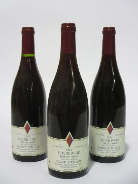 10 bouteilles BEAUNE 2001 1er cru Les Cents Vignes