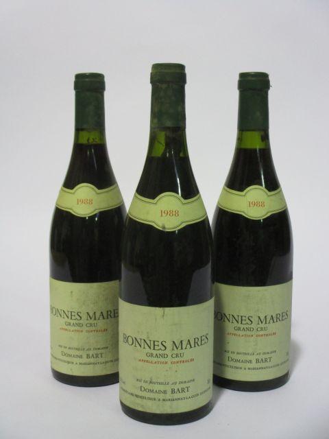 6 bouteilles BONNES MARES 1988 Grand Cru