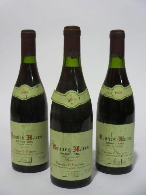 3 bouteilles BONNES MARES 1989 Grand Cru