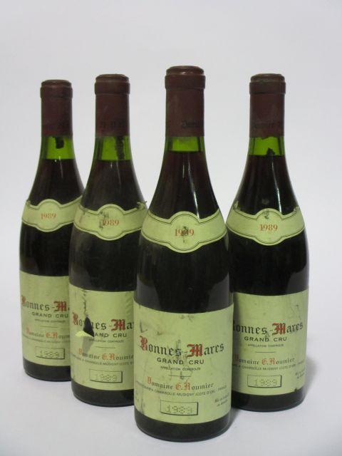 4 bouteilles BONNES MARES 1989 Grand Cru