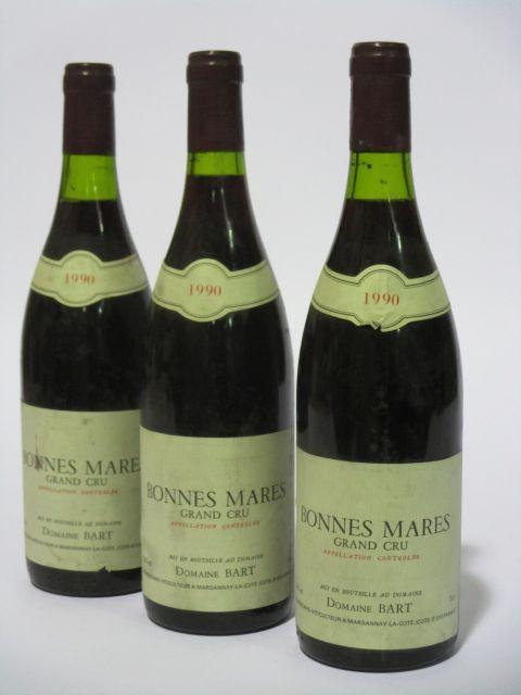 6 bouteilles BONNES MARES 1990 Grand Cru
