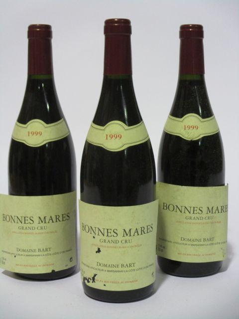 6 bouteilles BONNES MARES 1999 Grand Cru