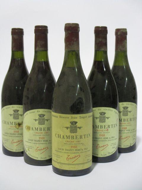 6 bouteilles CHAMBERTIN 1988 Grand Cru