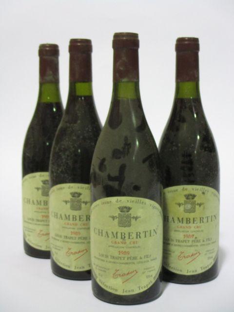4 bouteilles CHAMBERTIN 1989 Grand Cru