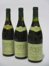 6 bouteilles CHAMBERTIN CLOS DE BEZE 1989 Grand Cru