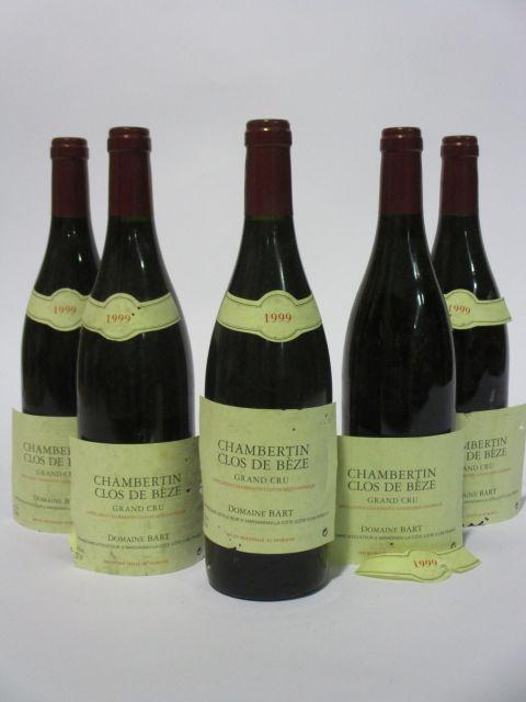 6 bouteilles CHAMBERTIN CLOS DE BEZE 1999 Grand Cru