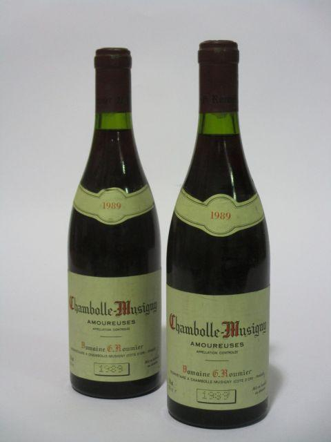 2 bouteilles CHAMBOLLE MUSIGNY 1989 1er cru Les Amoureuses