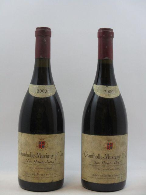 2 bouteilles CHAMBOLLE MUSIGNY 2000 1er cru Les Hauts Doix
