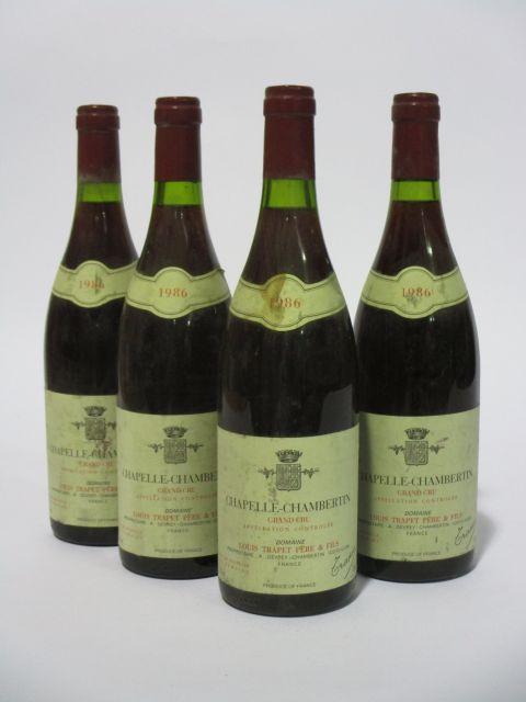 4 bouteilles CHAPELLE CHAMBERTIN 1986 Grand Cru