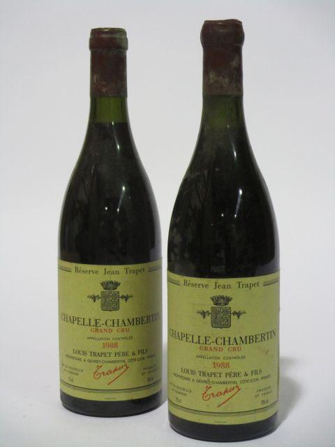 2 bouteilles CHAPELLE CHAMBERTIN 1988 Grand Cru