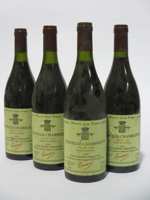 4 bouteilles CHAPELLE CHAMBERTIN 1989 Grand Cru