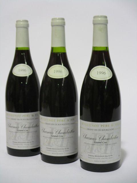 6 bouteilles CHARMES CHAMBERTIN 1996 Grand Cru